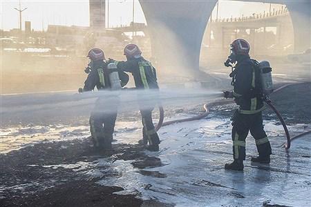 مانور عملیاتی کنترل و اطفاء حریق در میدان ۷۲ تن | Sajad Hayatpour