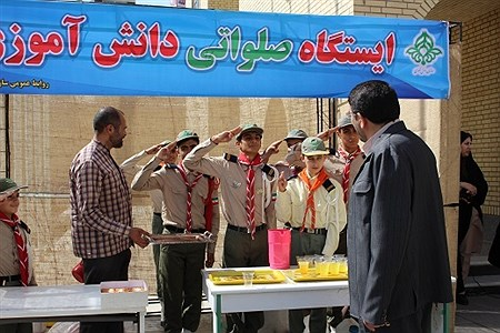 برپایی ایستگاه صلواتی دانش آموزی به مناسبت میلاد امام رضا(ع) | esmaiel dehvare