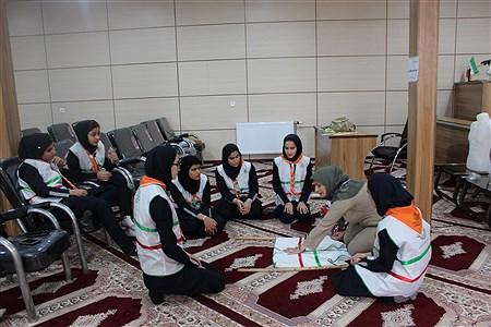 پیش اردو پیشتازان دختر، استان کردستان با حضور تیمهای منتخب شهرستانها و مدرسان برتر استانی به مدت دو روز در اردوگاه شهید سلیمان خاطر سنندج برگزار شد. |