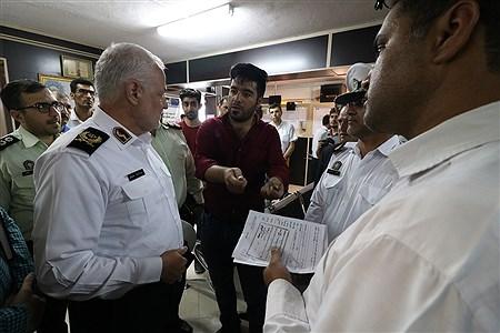 بازدید سرزده سردار هادیان فر از پلیس راهور کیش  | Amir Hossein Yeganeh
