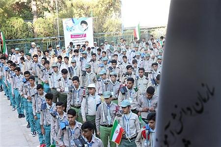 صبحگاه آخرین روز نهمین دوره اردوی ملی پسران دراردوگاه باغرود نیشابور برگزار شد. | Mahdi Asadi