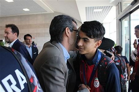 مراسم استقبال از تیم فوتسال دانش آموزی  آذربایجان شرقی   MohammadAminGavidel