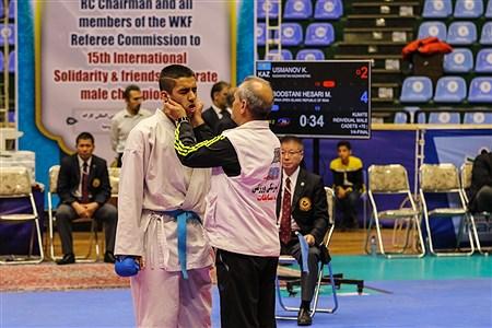پانزدهمین دوره مسابقات بین المللی کاراته در ارومیه| رده سنی نوجوانان | Amir Hosein Mollazade
