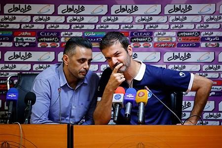 نشست خبری مربیان استقلال و پرسپولیس پیش از بازی دربی   Hossein Paryas