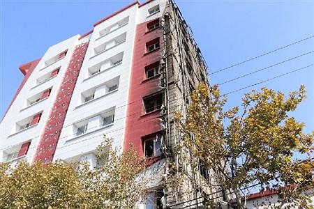 آتش سوزی برج اداری و تجاری آراکس مشهد | Ehsan hadi