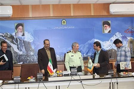 دیدار پیشتازان سازمان دانش آموزی با فرمانده  انتظامی  استان همدان | Sahar Chahardoli