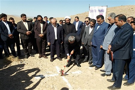 کلنگ آغاز عملیات اجرایی بند خاکی روستای حاجی آباد مود شهرستان سربیشه | mohamadjavad ghassemi