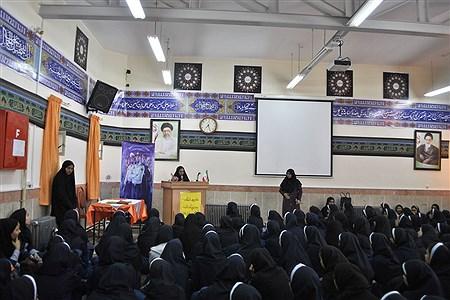 سخنرانی به مناسبت هفته نیروی انتظامی در دبیرستان نمونه کاشی نیلوفر | MohadesehHesami