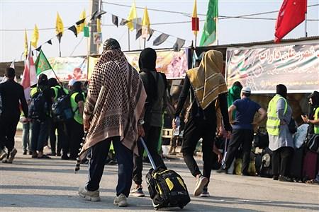 عبور زائران اربعین حسینی از مرز بین المللی شلمچه   Modtafa Ghayyem
