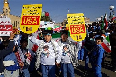 حضور پرشور دانش آموزان سازمان دانش آموزی آذربایجان غربی  در راهپیمایی 13 آبان   Pana