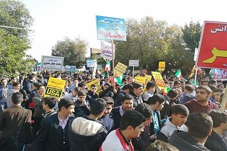 حضور پرشور دانش آموزان سازمان دانش آموزی آذربایجان غربی  در راهپیمایی 13 آبان | Pana