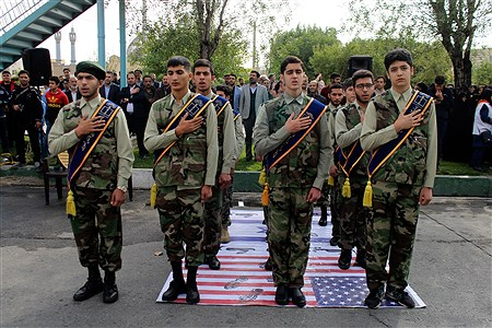 حضور دانش آموزان بسیجی استان تهران در راهپیمایی 13 آبان   Farzad Mohammadi