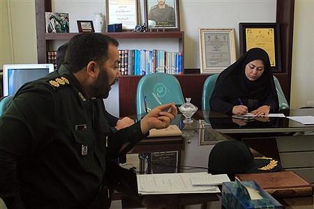 نشست مطبوعاتی فرمانده حوزه امامت سپاه تبریز  