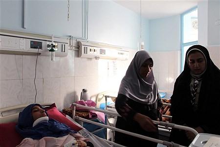 عیادت مدیر سازمان دانش آموزی خراسان جنوبی از پیشتازان حادثه دیده | Mojtaba Gholami