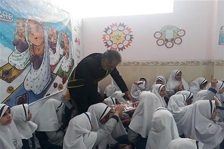 حضور خادمین مسجد مقدس جمکران در دبستان غیر انتفاعی عفاف زارچ  |