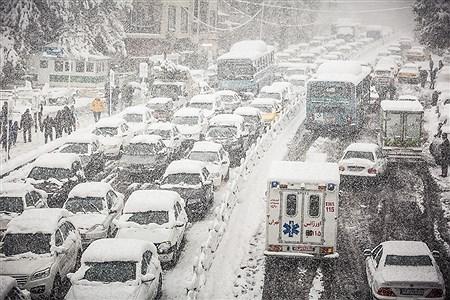 بارش برف پاییزی در تهران | Ali Sharifzade
