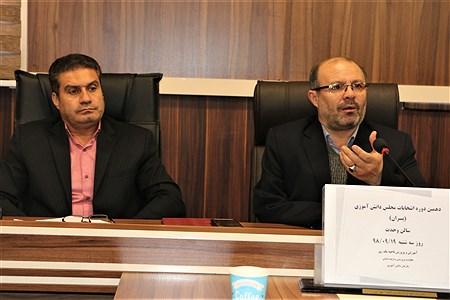 دیدار کاندیداهای دهمین مجلس  دانش آموزی با مدیر آموزش و پرورش ناحیه یک رری | Amjad Amiri