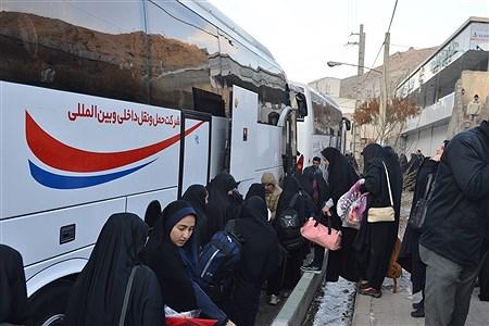 اعزام کاروان راهیان نور دختران شهرستان فیروزکوه به مناطق عملیاتی جنوب کشور | Fatemeh shahhossieni