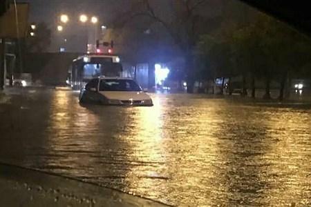 بارش شدید باران و آبگرفتی شهرها در خوزستان  | Fozieh Khanzadeh