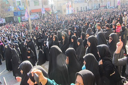 سوگواری مردم کرمانشاه در  پی شهادت سردار سپهبد قاسم سلیمانی | sarina rahmani