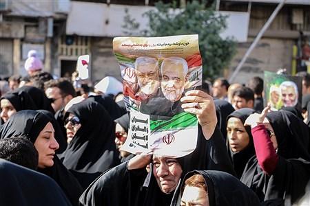 تشییع با شکوه پیکر شهید قاسم سلیمانی در اهواز  | Mustafa Ghayem
