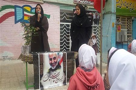 برگزاری نمایشگاه نقاشی در  آموزشگاه پروین به مناسبت شهادت سردار مقاومت حاج قاسم سلیمانی در خراسان شمالی  | Roya Mojaradi