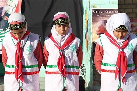 عزاداری دانش آموزان پیشتازان مدرسه جهادگران یاسوج در سوگ سردار دلها | samad ehsani