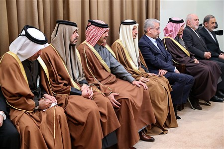 دیدار امیر قطر و هیئت همراه با رهبر معظم انقلاب اسلامی   khamenei.ir
