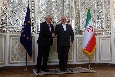 دیدار جوزف بورل هماهنگ کننده عالی سیاست خارجی اتحادیه اروپا با ظریف | Hossein Paryas