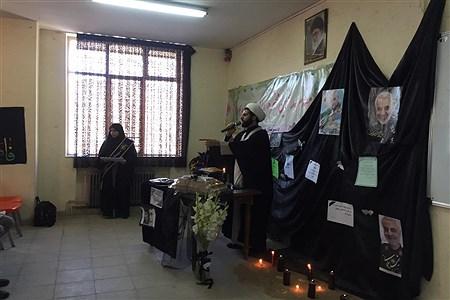 مراسم بزرگداشت سردار سلیمانی در مدرسه نرگس همدان |