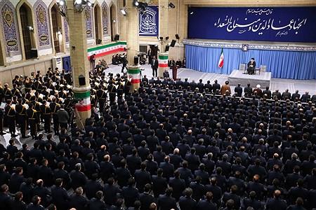 دیدار فرماندهان و کارکنان نیروی هوایی ارتش با فرمانده کل قوا  | khamenei.ir
