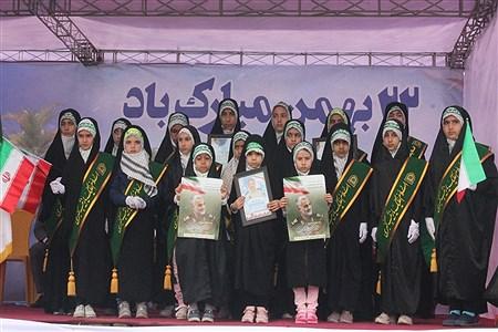 حضور فرهنگیان و دانش آموزان بندرعباس در راهپیمایی 22 بهمن   Mahdi  Mansourinejad