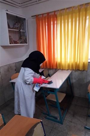 ضد عفونی مدارس آموزش و پرورش  ناحیه یک ری | nouriyeh Ahmadi