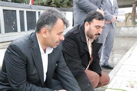 تجدید بیعت مدیرکل آموزش و پرورش قزوین با شهدا | mohsen hoseinkhani