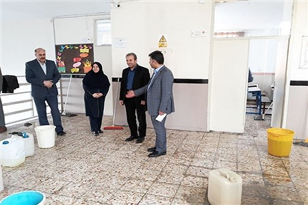 ضدعفونی دو هزار مدرسه قزوین برای جلوگیری از شیوع کرونا | mohsen hoseinkhani