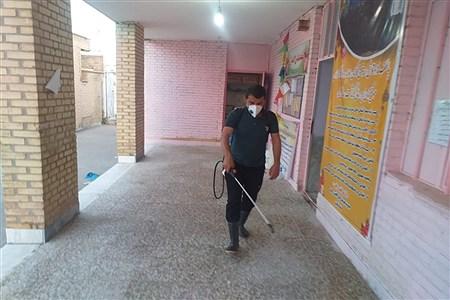 ضدعفونی وگندزدایی مدارس شهرستان حمیدیه   PanaHamideh