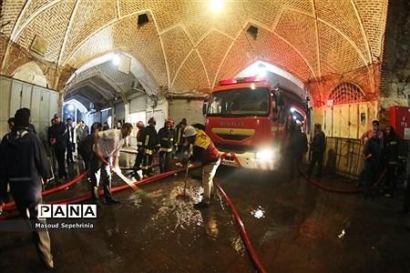 آتش سوزی در بازار تاریخی سرپوشیده تبریز  