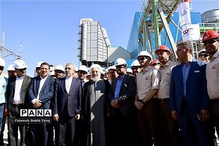افتتاح بخش گاز نیروگاه سیکل ترکیبی هریس  