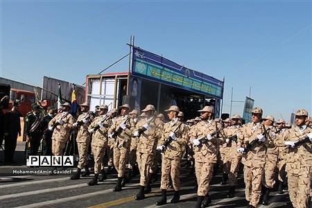 رژه نیروهای مسلح در تبریز به مناسبت هفته دفاع مقدس  