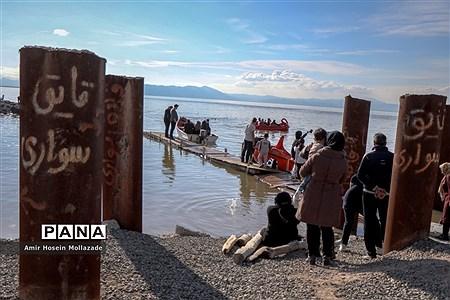 استقبال مردم از پرآبی دریاچه ارومیه |