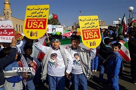 حضور پرشور دانشآموزان سازمان دانشآموزی آذربایجان غربی در راهپیمایی 13 آبان |