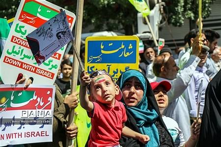 حضور کودکان در راهپیمایی روز قدس |