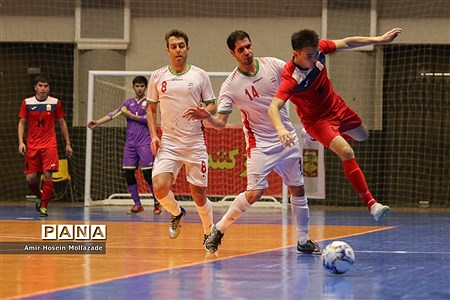 دیدار تیمهای ایران و قرقیزستان از سری بازیهای مرحله مقدماتی فوتسال آسیا |