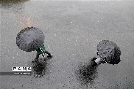 باران پاییزی در تهران |