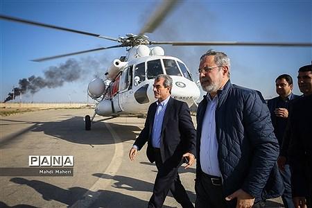 بازدید وزیر آموزش و پرورش از مناطق سیلزده استان خوزستان |