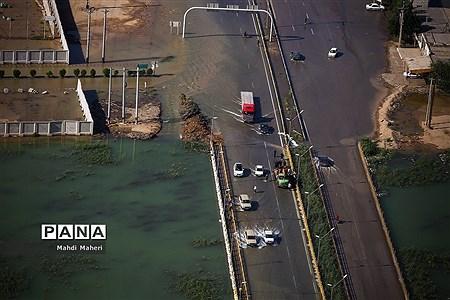 تصاویر هوایی از مناطق سیل زده استان خوزستان |