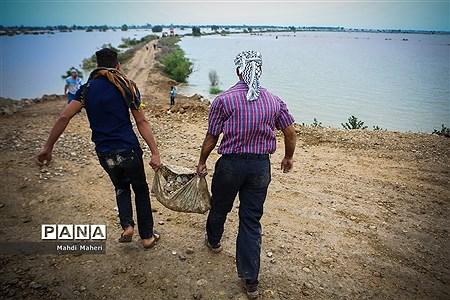 نگرانی مردم از سیل احتمالی در شیبان خوزستان |