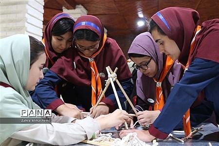 اردوی پیشتازان شهر تهران با شعار همفکری، همدلی و همکاری |