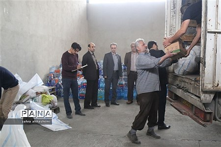 ارسال کمک های غیرنقدی به مناطق سیل زده باحضور مدیرکل آموزش و پرورش تهران |
