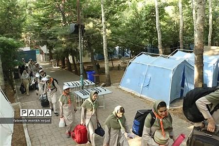 استقرار دانشآموزان پیشتاز اردوی ملی دختران در اردوگاه باهنر |